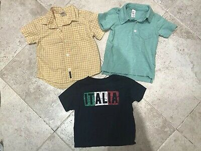 Lot Shirts Children's Place Carters Old Navy 12 18 24 Months Italia Green Plaid