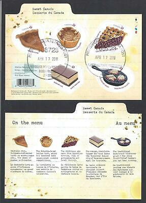 2019 Sweet Canada Desserts Souvenir Sheet (self-adhesive) First Day Cancel