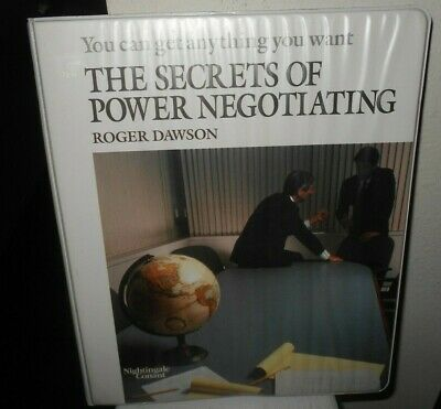 The Secrets of Power Negotiating by Roger Dawson 6 Cassette Audiobook (VG)