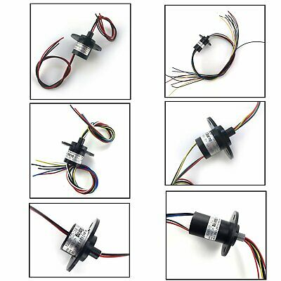 2 3 4 6 8 12 Wires 5A OD22mm 500RPM Collector Ring Wind Turbine Slip Ring 1Pcs