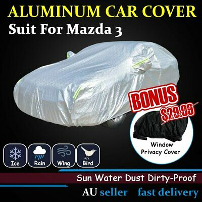 Aluminum Car Cover Body Anti Scratch Water Rain Harsh Weather Shield For Mazda 3