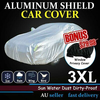 Aluminum Car Covers Anti Scratch Rain Water UV Resistant + Window Cover Bonus