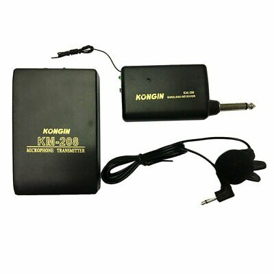 Wireless FM Transmitter Receiver Lavalier Lapel Clip Microphone Mic System GN