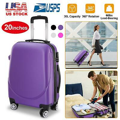 """20"""" Carry on Travel Luggage Lightweight Rolling Spinner Hard Shell Portable New"""