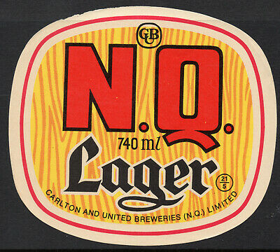 Beer Label:  Nq Larger  740 Ml Perfect Condition