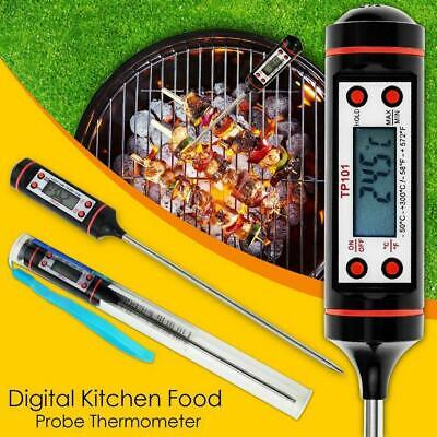 Electronics Digital Food Thermometer Probe Temperature Kitchen Cook Cooking BBQ,
