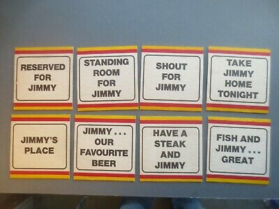 complete set of 8 BOAG,s BREWERY 1983 Issue COASTERS collectable