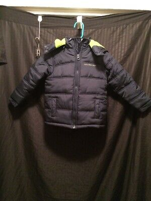 Boys Calvin Klein Jeans Jacket W/ Attachable Hood Size M