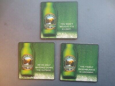 complete set of 3 BOAG,s Premium Light 2004 Issue COASTERS collectable