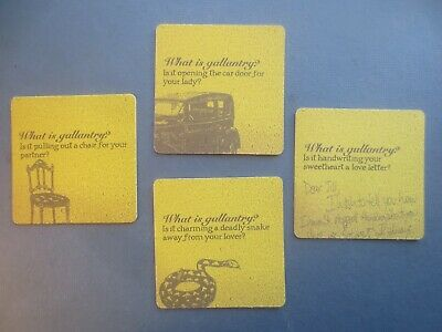 complete set of 4 BOAG,s St George Beer 2007 Issue COASTERS collectable
