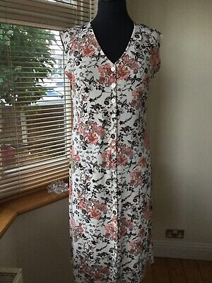 Kim&Co Ladies Dress Size Small 12/14 ? Ivory Floral
