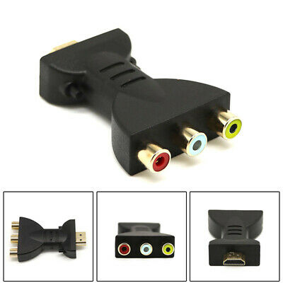 HDMI to 3 RCA Video Audio Converter Head AV Adapter Female Head Cable Protection
