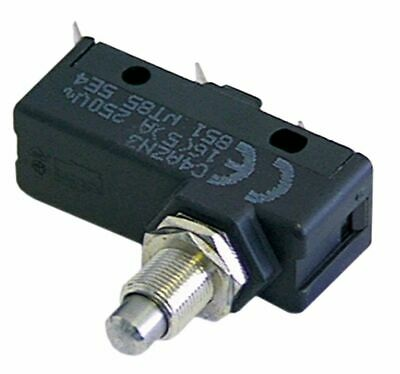 Microswitch With Plunger Thread M10X1 Thread L 13Mm 250V 16A 1Co