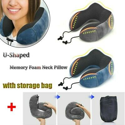 U-Shaped Soft Memory Foam Neck Support Pillow Cushion Travel Air Plane Car Sleep