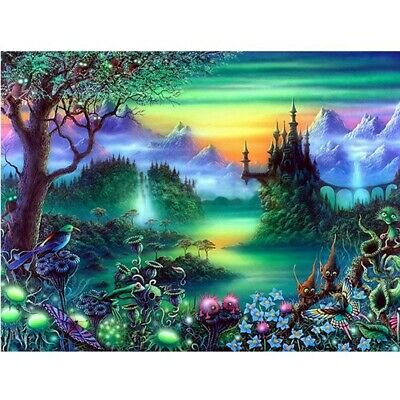 5D Diamond Painting Kits For Adults Fairy Tale Forest Tree Full Drill,Diy C G4F6