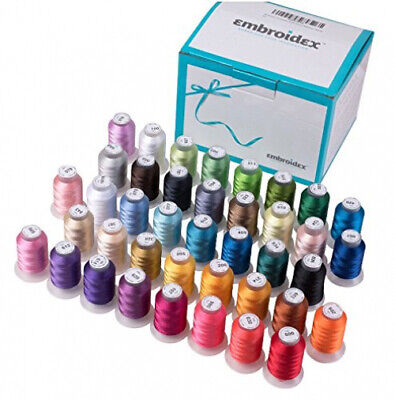 40-Spools Polyester Embroidery Machine Thread Set - Embroidex NEW