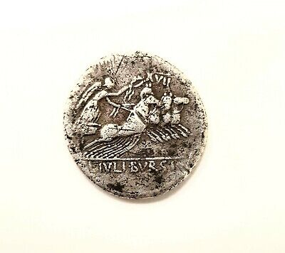 85 BC Ancient Roman Silver Coin Authentic weighs 3.7 grams  very good condition