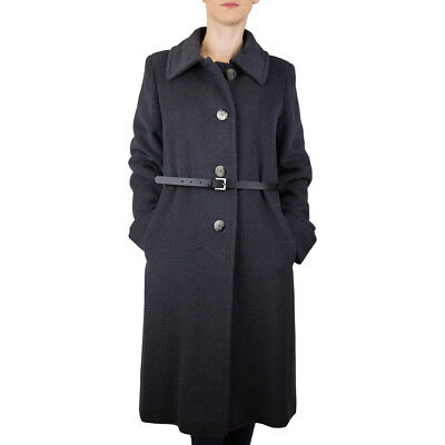 Marella Iva Coat Jacket Trench tg.44 Woman Colour Charcoal Occasion -42%