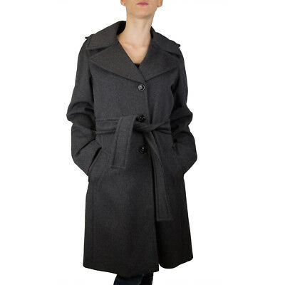 Marella Shaila Coat Jacket Woman with Charcoal Size Various -43% Occasion
