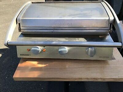 GRILL STATION 8 SLICE ribbed top PLATE 10 AMP ROBAND GSA810R