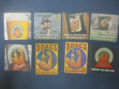 """complete & all known 8 in total BOAG,s BREWERY """" STRONGARM BITTER  COASTERS"""