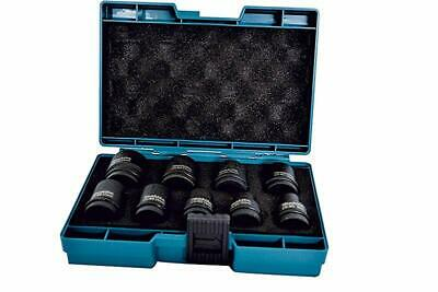 Makita D-41517 Wrench Impact Socket Set 1/2 Inch Drive 9 Piece, Black, 22 x 450