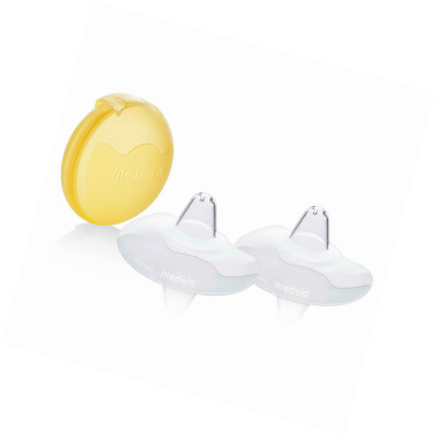 Medela 24 mm Contact Nipple Shields with Case (Large. 24mm nippleshield)
