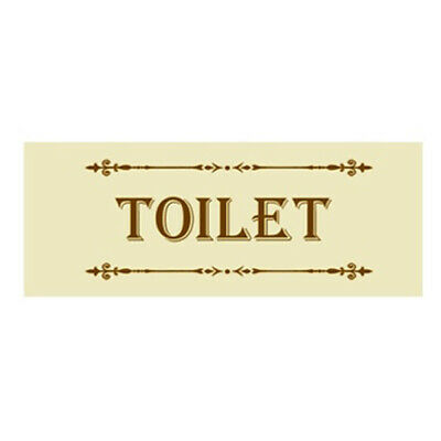 French Country Inspired Wall Art Plaque CREAM TOILET Wooden Sign New