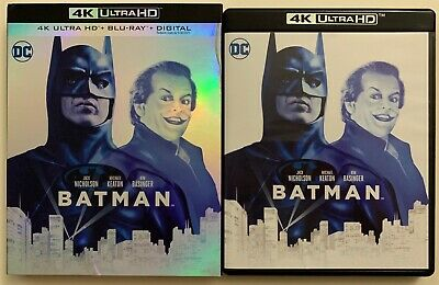 Dc Batman 1989 4K Ultra Hd Blu Ray 2 Disc Set + Slipcover Sleeve 30Th Anniversar