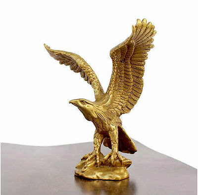 China/'s archaize pure brass eagle small statue high 6.8 cm
