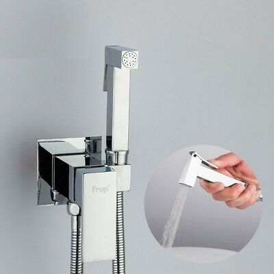 Square Shower Spray Bidet Faucet Brass Tap Washer Cold Hot Water Mixer Crane