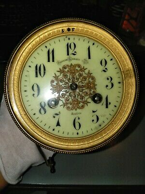 Vintage Japy Freres & C Clock Movement For Parts or Repair