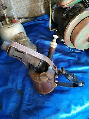 Vintage Blow Torch Paraffin TAYMAX Lamp Project Light - British made G.W.O.