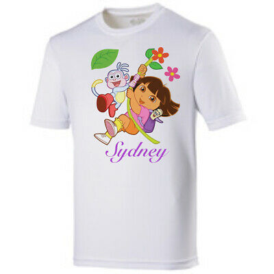 Dora The Explorer/Boots - Personalised kids/Girls T-shirt top clothing