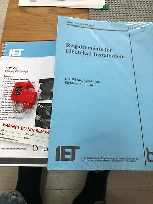 IET 18th Edition Wiring Regulations - BS 7671:2018 Osg + Kewtech Lock Off Kit
