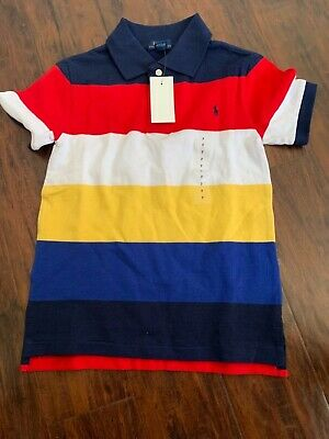 New polo Ralph Lauren Kids Boys Small Pony Colorful Shirt polo size 7