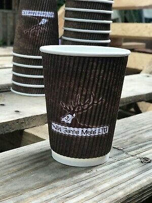 Disposable Double Wall Ripple Hot Cups Coffee Tea Cup Takeaway 12 oz Box of 500