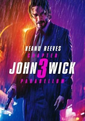 John Wick: Chapter 3 - Parabellum DVD NEW Keanu Reeves, Halle Berry