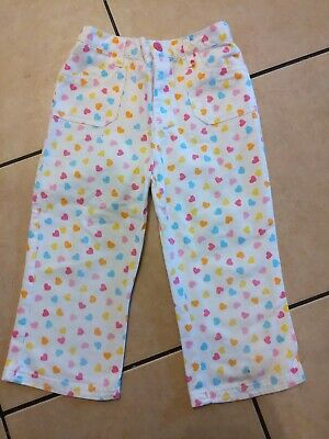 Heart Patterned Cropped Cotton Trousers 6 yrs