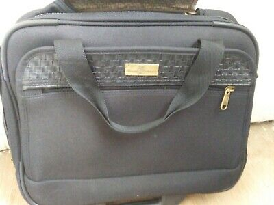 "Tommy Bahama Nassau Rolling Wheeled Computer Carry On Luggage 17"" Laptop Bag Euc"