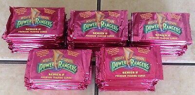 Lot Of 50 Collect-A-Card Mighty Morphin Power Rangers Trading Cards Wax Packs