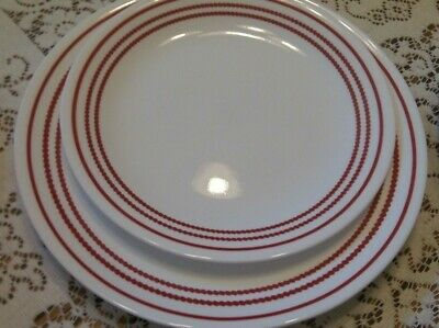 Corelle Ruby Red Dinner and Lunch plate, 1 each, excellent condition          g9