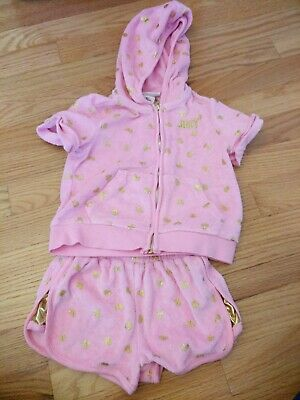 Juicy Couture girls Short Sleeve Jumpsuit- 4t  hoodie tracksuit