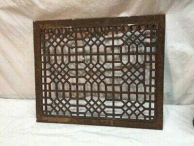 Victorian Cast Iron Grate Ornate Heater Furnace Floor Vent Architectural Salvage