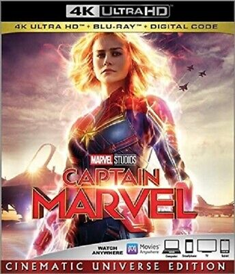 Captain Marvel 4K UHD 05/19 4K (used) Blu-ray Only Disc Please Read