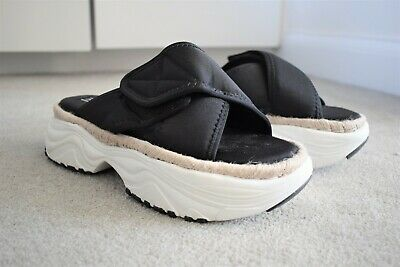 Zara flat quilted sporty platform sandals chunky sole UK 5 | EU 38 | US 7
