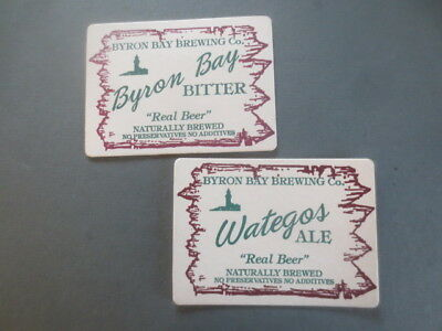 2 different BYRON BAY  BREWING Co. New South Wales  BEER COASTERS