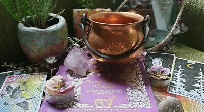 Antique Copper/Brass Cauldron Wicca Pagan Altar Baby Hedge Witch Kitchen Planter