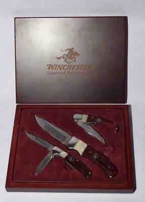 2008 Winchester Limited Edition KNIFE SET - Lock Blade, Fixed Blade & Folder