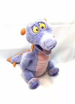 "Disney Epcot Figment Dragon Plush 8.5"" Stuffed Imagination Institute Lanyard NWT"
